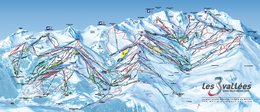 plan des pistes des 3 vallees