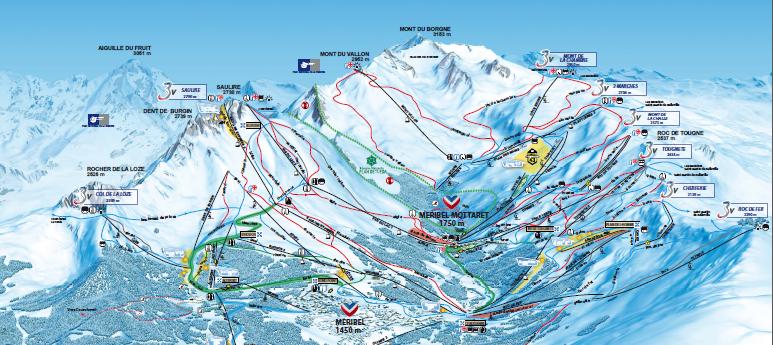 grand ski à Méribel