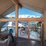 Vue sur le domaine skiable